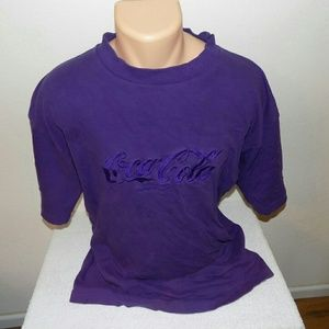 Vintage Embroidered Coca Cola T-shirt